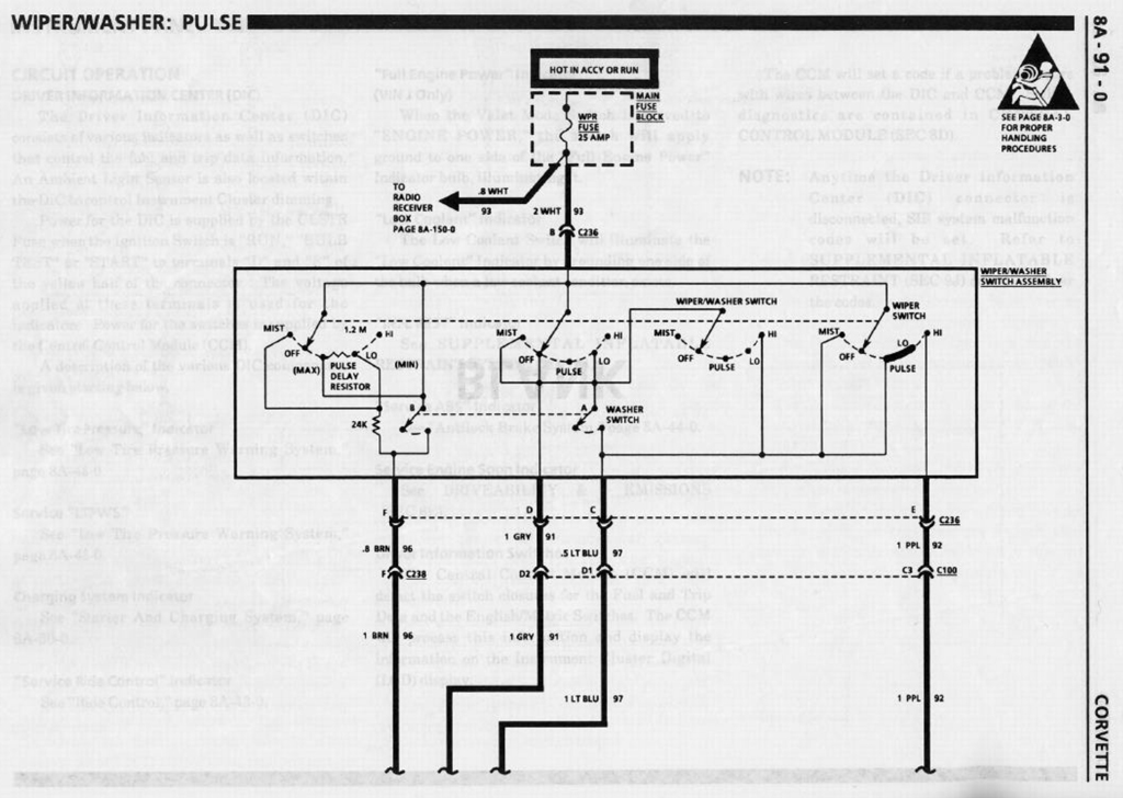 wiper wiring diagram - corvetteforum - chevrolet corvette forum, Wiring diagram