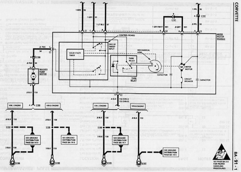 90_Corvette_Wiper_8A 91 1 wiper wiring diagram corvetteforum chevrolet corvette forum 1968 corvette wiper motor wiring diagram at bayanpartner.co